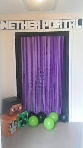 emery s minecraft party diy nether portal minecraft pinterest