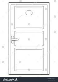 closed door drawing. Uncategorized Closed Door Drawing Amazing Outline Illustration Front View Stock Vector Pic For Trend And Of A P