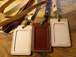 leather id holder id lanyard id badge id pass holder image 0