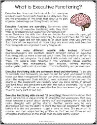 FREE Executive Functioning Printables. Includes worksheets and ...
