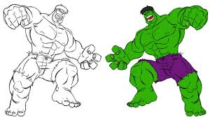 hulk coloring book pages for kids superhero colouring video learn colours for baby kids you