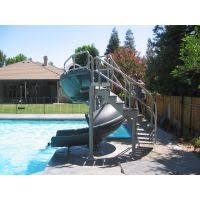 in ground pools with slides. Vortex Inground Pool Slide Open Flume And Ladder (Gray Granite) In Ground Pools With Slides