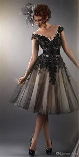 Little Black Dress Short Sheer Cocktail Prom Dresses A Line Beaded