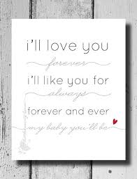 Nursery Quote Nursery Decor I'll Love You Forever I'll Like You Fascinating Ill Love You Forever And Ever