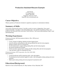 Film Resume Example Examples Of Resumes