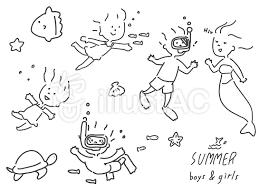 夏 子供イラスト No 1466885無料イラストならイラストac