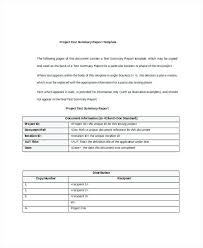 Project Summary Report Template – Rigaud