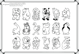 coloring printable zoo animal coloring pages animals cute page free