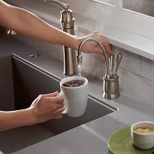 brilliant design kitchen sink instant hot water dispenser insinkerator f hc2215c indulge tuscan hot and cold