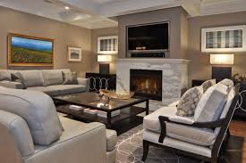 view in gallery contemporary living room with old fashioned fireplace
