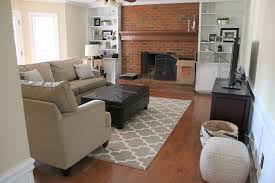 brilliant 70 living room with red brick fireplace design paint colors