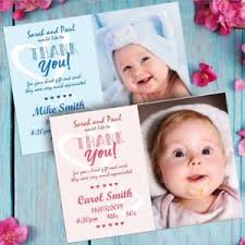 Baby Boy Thank You Cards Personalised Photo Thank You Cards Baby Boy Or Girl Birthday