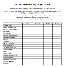 Weekly Monthly Budget Template Food Budget Template Walach Info