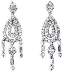 one kings lane vintage diamond chandelier drop earrings precious rare pieces