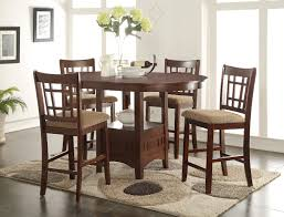 dining room chairs counter height. randolph counter height table with 4 chairs | furniture distribution center dining room