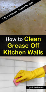 clean grease off kitchen walls