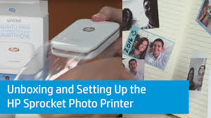 Unboxing And Setting Up The Hp Sprocket Photo Printer Youtube