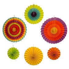 origami pc fiesta paper fan decoration green orange red de mayo
