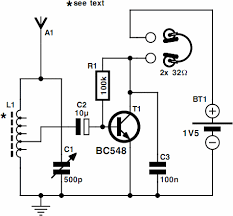 one transistor radio circuit powered by a 1 5v battery circuit one transistor radio circuit powered by a 1 5v battery circuit spot