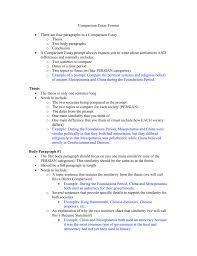 comparison essay thesis example comparison essay format