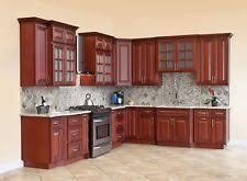 Best wood for kitchen cabinets Doors 10x10 All Solid Wood Kitchen Cabinets Cherryville Rta Ebay Kitchen Cabinet Ebay