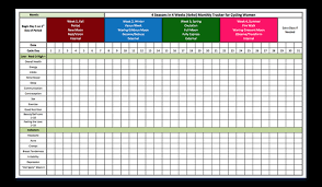 Monthly Tracking Chart Tracking Tools 4 Seasons In 4 Weeks