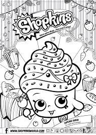 Shopkins Colour Color Page Cupcake Queen Shopkinsworld Eten En