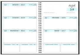 Homework Agenda Printable Weekly Assignment Template College Planner Schedule Homework
