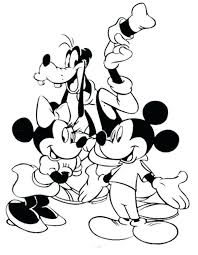 mickey mouse and friends coloring pages to print free mickey mouse coloring page mickey mouse coloring