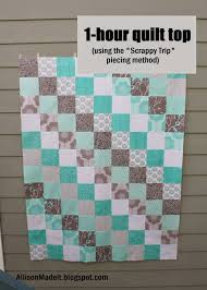 Allison Made It: Super Fast Baby Quilt (Using the Scrappy Trip Method) &