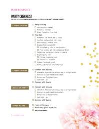Party Planning Lists Checklist Pure Romance