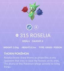 Roselia Pokemon Go Wiki Guide Ign