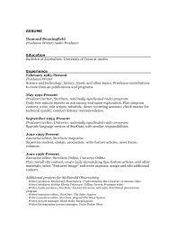 Resume Format To Edit Inspirational Multimedia Journalist Pics
