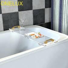 custom made acrylic bathtub custom made durable clear acrylic bathtub tray with metal bathroom tray rack
