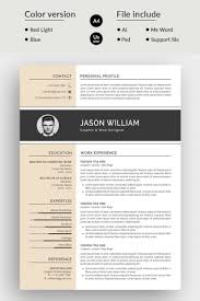 modern clean resume template jason william modern resume template