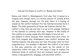 romeo and juliet conflicts essay gcse english marked by  document image preview