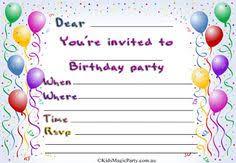 Birthday Invitations Printable Free Printable Birthday Invitations For Kids Freeprintables