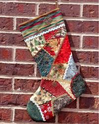 Quilted Christmas Stocking | White patterns, Patchwork and Quilted ... & Quilted Christmas Stocking Adamdwight.com
