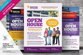 College Templates College Open House Flyer Templates