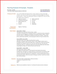 Fresh Assistant Teacher Cv Excuse Letter