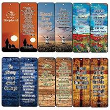 bookmarks orted bulk set 60 pack inspirational verses be strong
