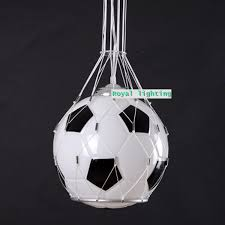 glass lighting fixtures. soccer ball children room glass light pendnat lamps football kidu0027s pendant hanging bedroom bar lighting fixturein lights from fixtures