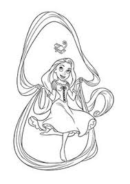 Small Picture Coloring the picture of Disney Princess Tangled Rapunzel Coloring