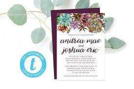 Party Invites Online Succulent Wedding Invitation Templates Diy Wedding Invites Rustic Party Invitations Printable And Editable Online Pdf Country Wedding