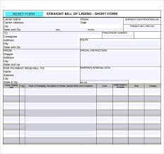 Short Form Bill Of Lading Template Free 5 Sample Bill Of Lading In Pdf