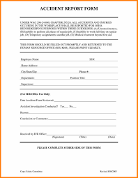 Employee Accident Report Template Luxury Form Of Injury Free