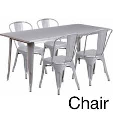 breakroom tables and chairs. 31 5 x 63 rectangular silver metal indoor table set with 4 stack chairs et ct005 20150219 213726 breakroom tables and