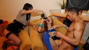 Teen student party fuck
