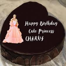 Unique Princess Barbie Doll Birthday Cake Name Wishes Image Ruby