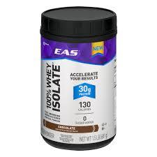 eas 100 whey isolate protein powder chocolate 30g protein 1 5 lb walmart